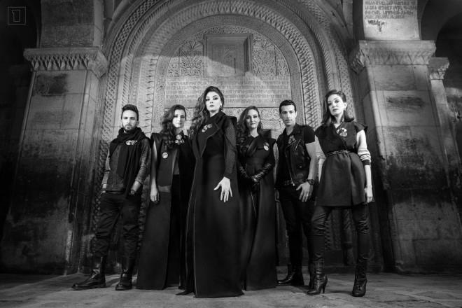 Genealogyn jäsenet vasemmalta oikealle: Vahe Tilbian, Tamar Kaprelian, Inga Arshakyan, Mary-Jean O'Doherty,  Essaï Altounian ja Stephanie Topalian. (kuva: Ruben Martirosyan)