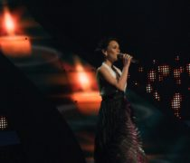 Csézy in the 2nd semi-final at the Eurovision Song Contest in Belgrade.