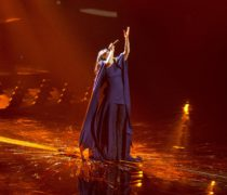 "Jamala representing Ukraine with the song ""1944"" during a rehearsal before the second semi final of the Eurovision Song Contest 2016 in Stockholm."